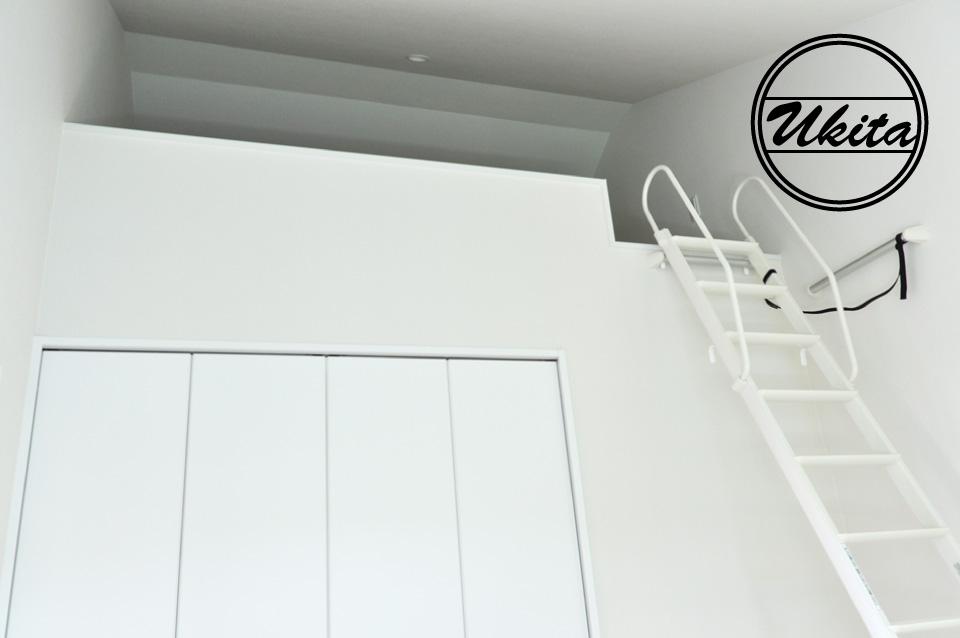 高槻市 工務店 新築・建替え・ガルバリウムのかっこいい家子供部屋ロフト部分
