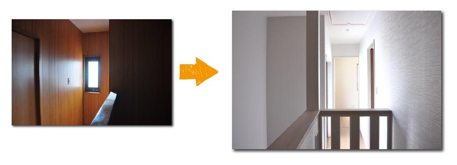 高槻戸建リフォーム2階施工写真