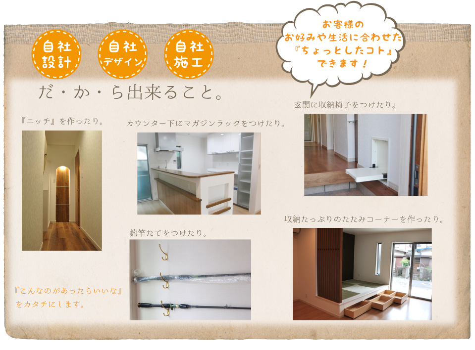 高槻浮田工務店・うきうきハウスの特徴