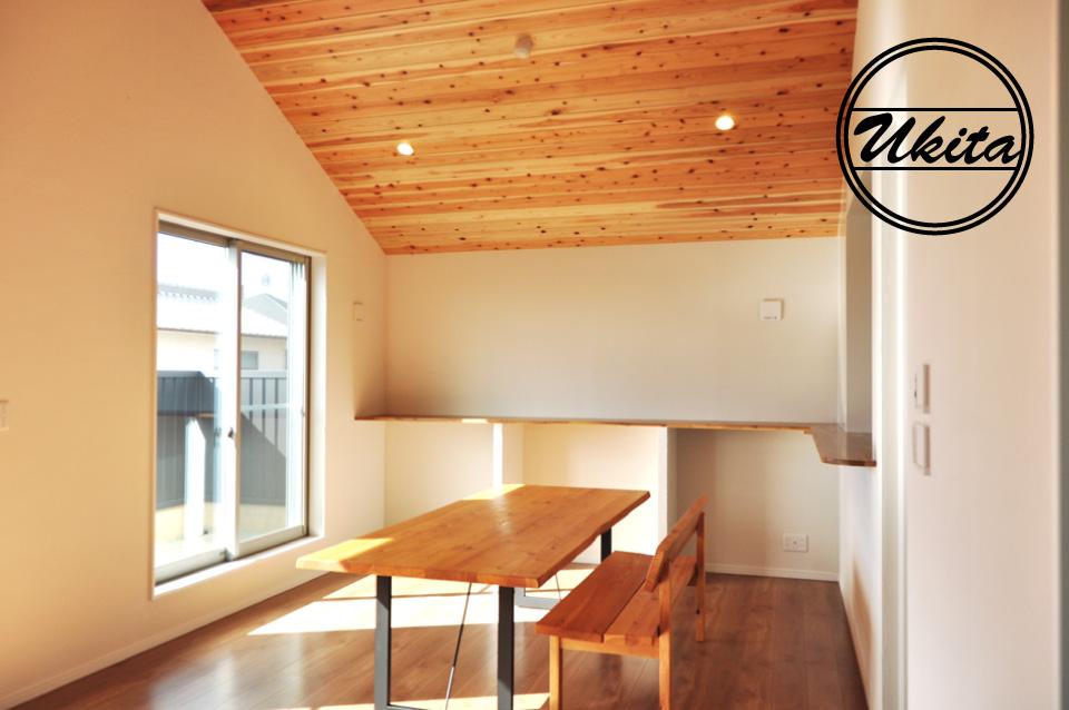 高槻市 工務店 新築・建替え・ガルバリウムのかっこいい家リビング