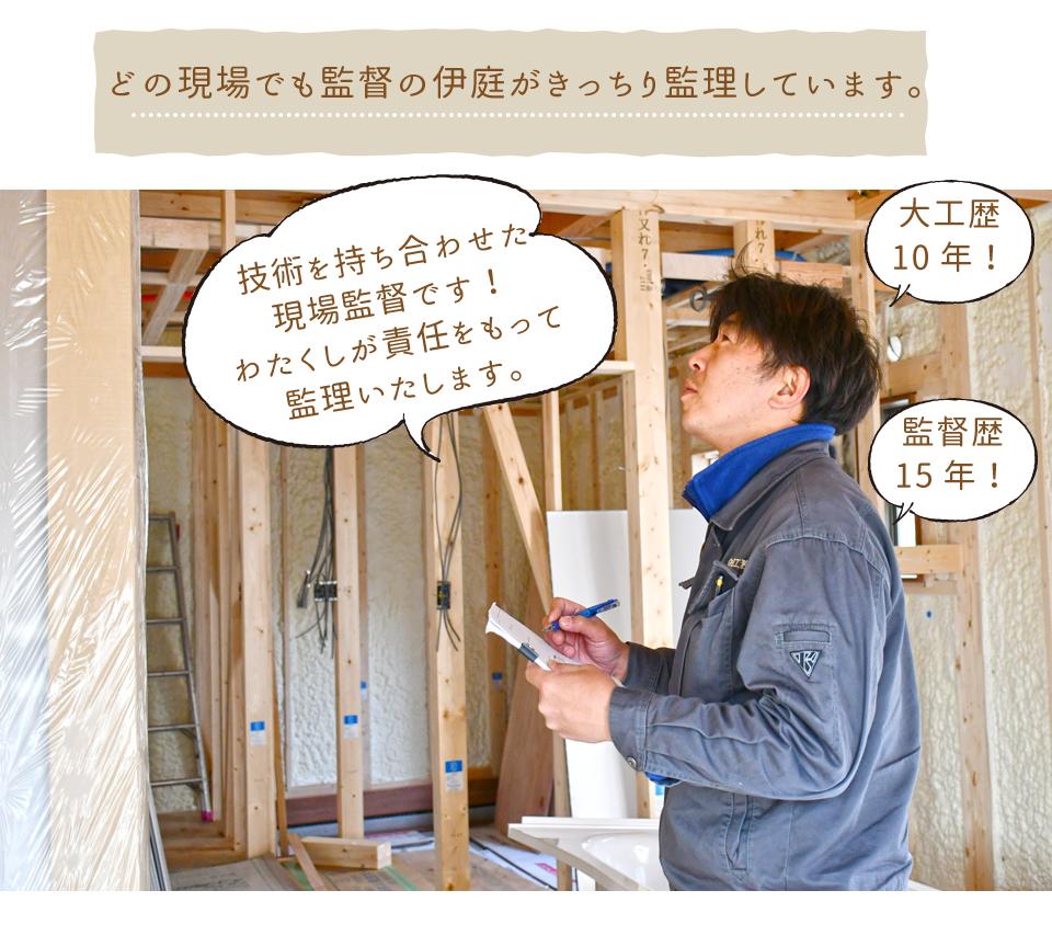 浮田工務店のベテラン現場監督伊庭