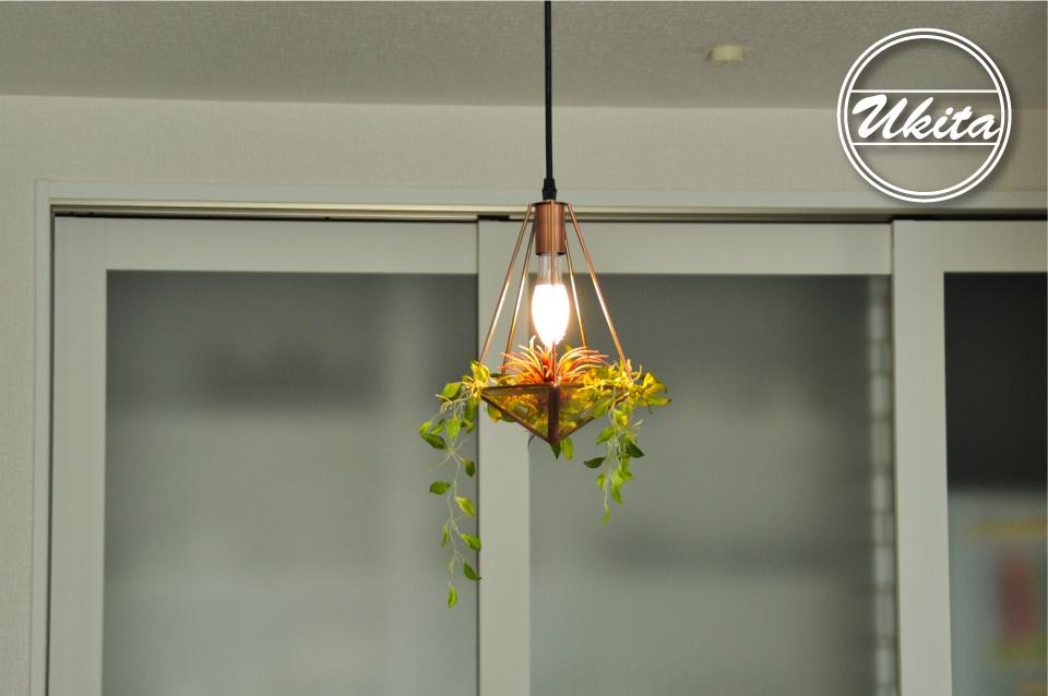 高槻市 工務店 新築・建替え・平屋のこだわりの家ダイニングの照明