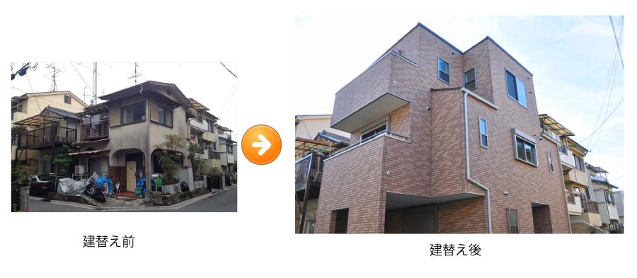 高槻 工務店 新築・建替え・ホームエレベーター付き住宅建替え後