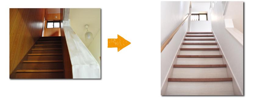高槻戸建リフォーム階段施工写真